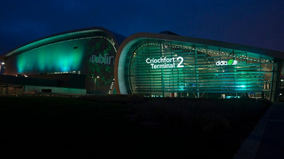 Ireland's Dublin Airport will go green for St. Patrick's
