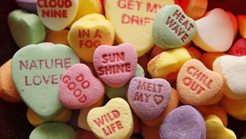 Valentine's Day candies.