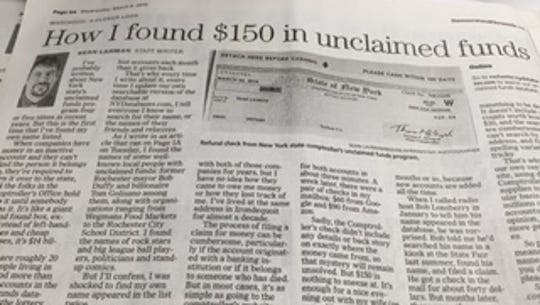 How Sean Lahman found $150 in unclaimed funds