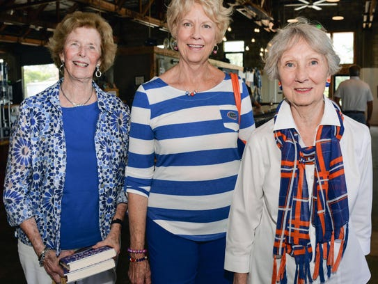 Carol Fennell, Mary Graves and Nat Jackson wear their