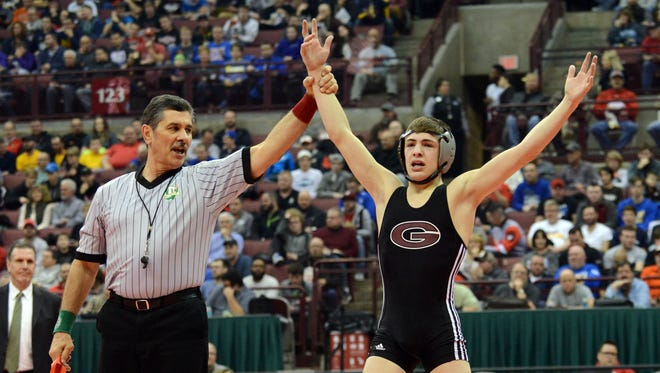 Genoa's Dylan D'Emilio has three state wrestling crowns in three years and is shooting for a fourth.