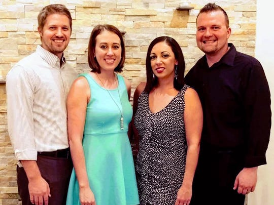 The partners behind Gino's Trattoria on Marco Island include, from left, Zac and Mary Simpson and Rebekah and Eric Mansour.