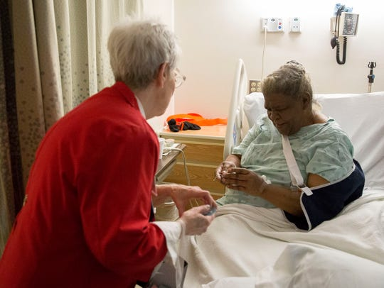 Marie Clements, a volunteers at IU Health Ball Memorial