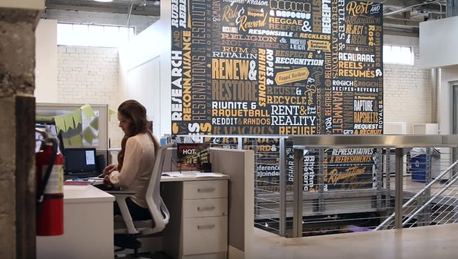 R&R Partners Vice President Matt Silverman said that a lot of work went into revitalizing, refurbishing and making the agency's new location in the Warehouse District their own.