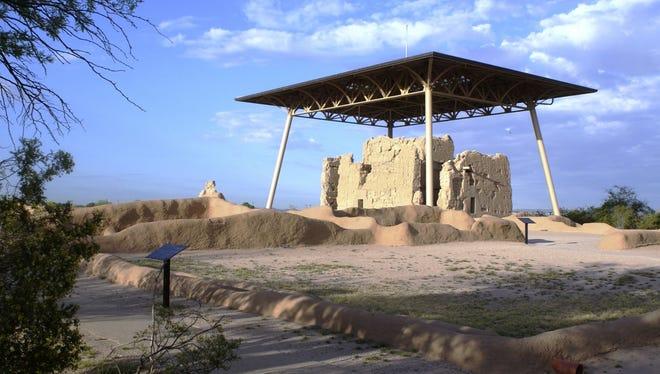 Casa Grande Ruins National Monument preserves ruins of an ancient Hohokam farming village.