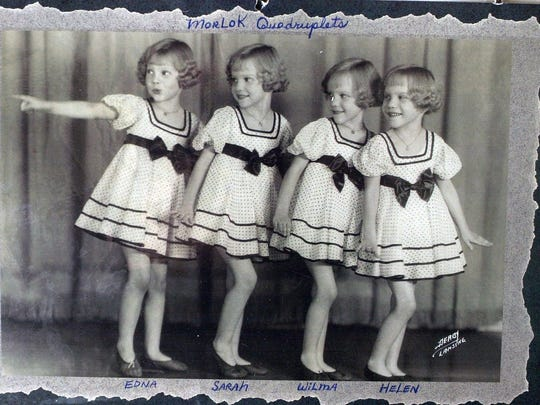 The Morlok quads are shown at age 7. They  are, from