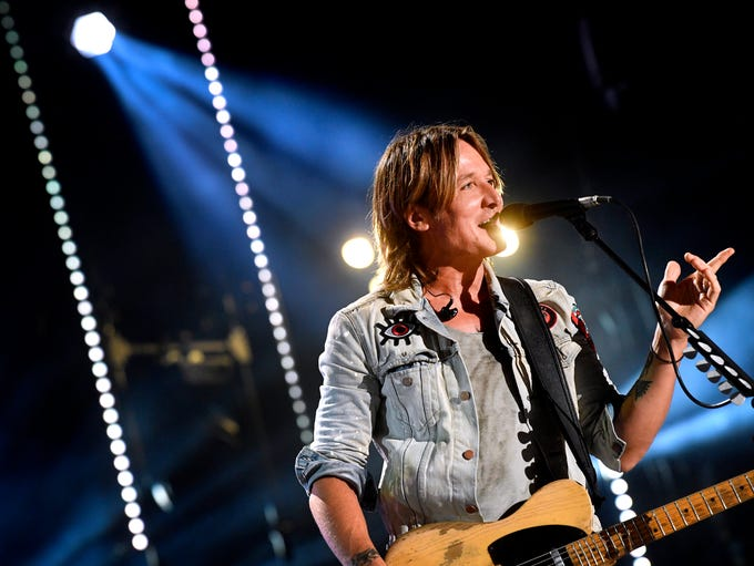 Keith Urban performs at the 2018 CMA Music Fest Saturday,