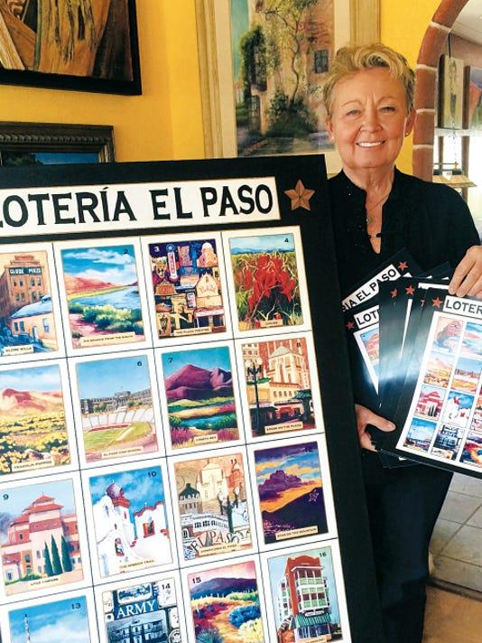 El Paso artist Candy Mayer created an El Paso-inspired version of lotería.