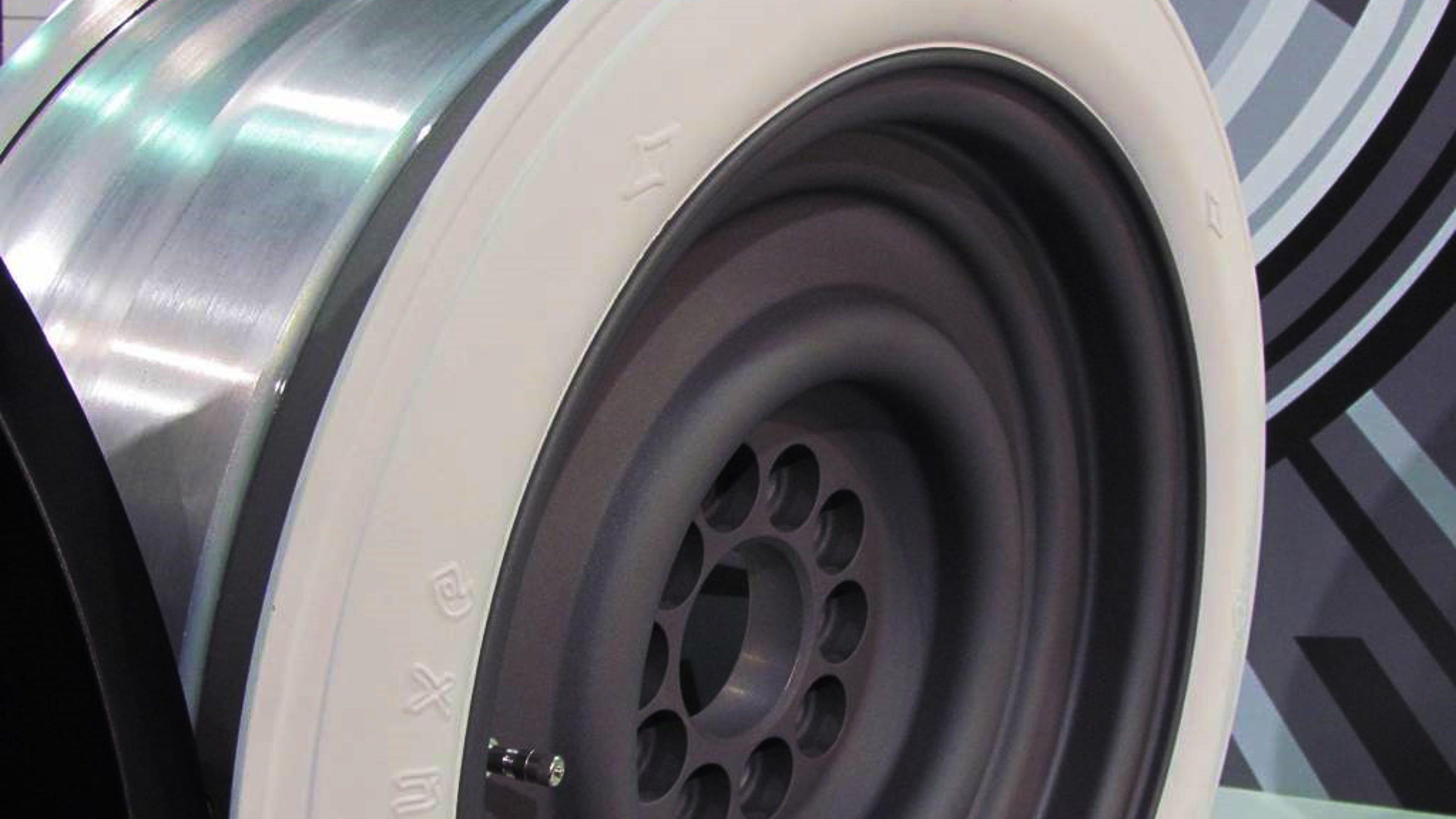 New whitewall wheel keeps old-car look