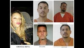 Police distributed mug shots of five people believed to have tried to force their way into a house in Alamogordo Feb. 7. All were in custody Thursday except Jason Enjady at lower right.
