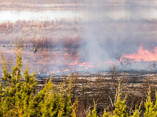 Controlled burn at San Angelo State Park