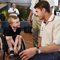 6-year-old Shriners patient spends the day at NASCAR race