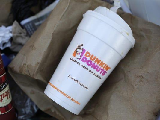 Dunkin Donuts Foam Cups