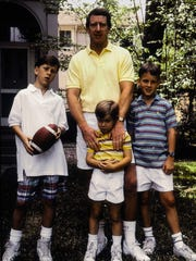 The Manning men, clockwise from top: Archie, Peyton, Eli and Cooper. Archie and Peyton were NFL quarterbacks; Eli still is. Cooper was a high school football star who now works in finance.