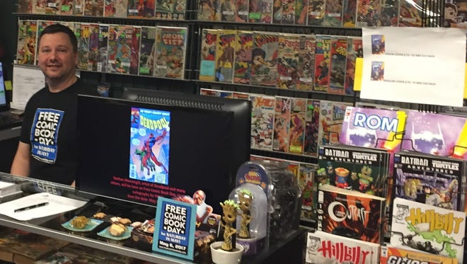 Judd Bazzel, owner of StarBase 1552 Comics is participating in Free Comic Book Day on May 6.