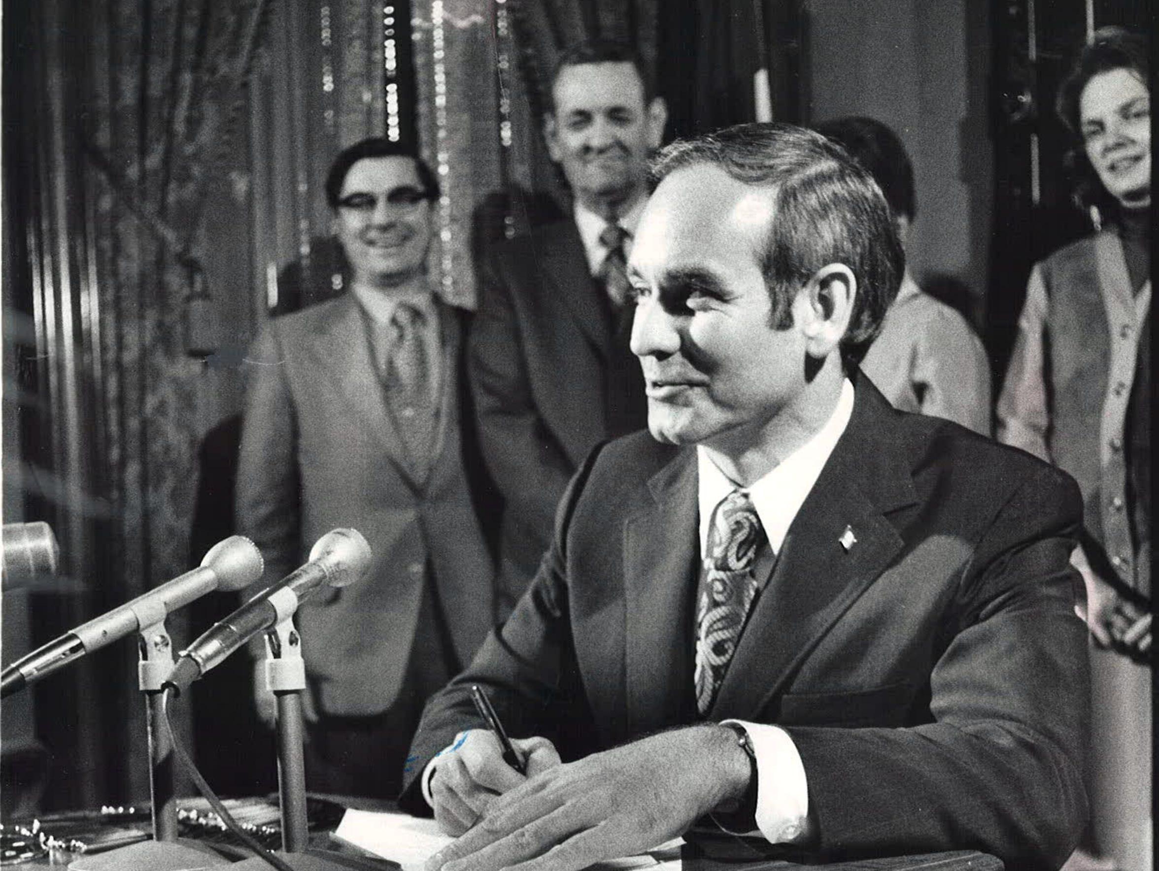 From 1972: Iowa Gov. Robert Ray signs legislation establishing