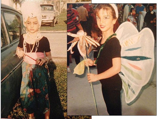 Cezanne and Erica (then Tasha) as children dressed