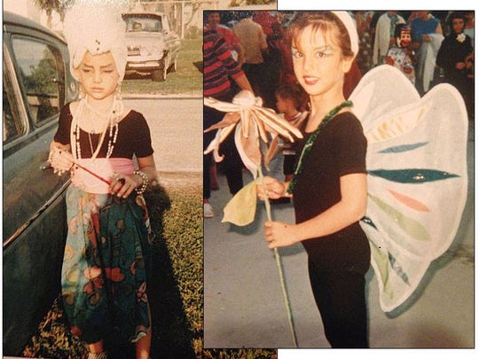 Cezanne and Erica (then Tasha) as children dressed for Halloween