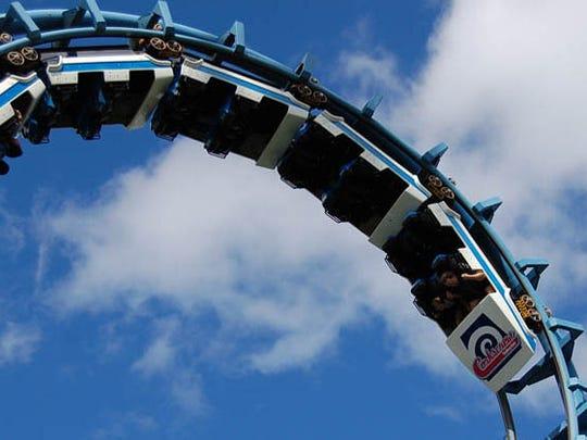 The Corkscrew, at Valleyfair Amusement Park in Minnesota.