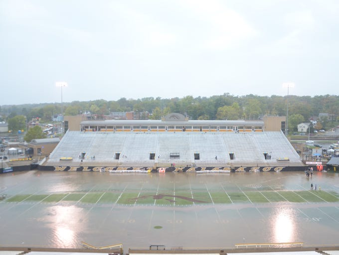 View of the field at Waldo Stadium after Saturday's