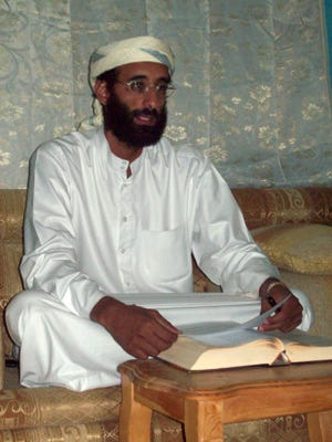 The 2011 killing of Anwar al-Awlaki, shown here in 2008, demonstrates the way both Democratic and Republican adminstrations have chosen to wage the war on terror.