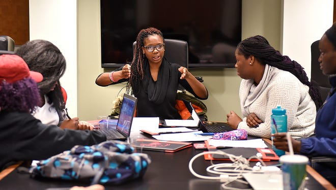 Members of the African Student Association share their opinions on recent terrorist attacks and the varied reactions to them Tuesday at St. Cloud State Cloud State University.