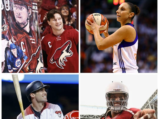 Shane Doan, Diana Taurasi, Paul Goldschmidt and Larry Fitzgerald made up our original Mount Rushmore of active Arizona sports athletes. With Doan's retirement, Devin Booker has joined the list.