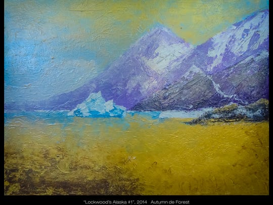 "Autumn de Forest's ""Lockwood's Alaska #1,"" is on display at Monthaven Arts and Cultural Center."