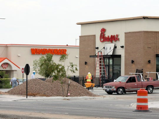 New Chick-fil-A and Whataburger restaurants are located