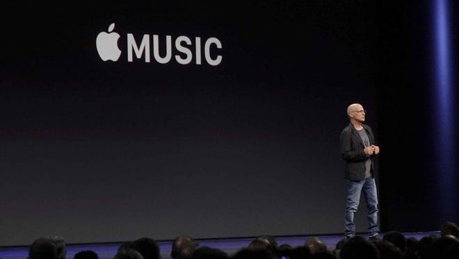 Music producer Jimmy Iovine, who became part of Apple when the company bought streaming music service Beats Music last year for $3 billion, announces the company's revamped Music app and its intention to compete for the growing number of streaming music fans.