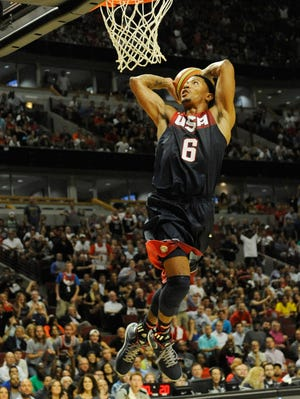 Derrick Rose showed flashes of his MVP form in the USA's exhibition win over Brazil.