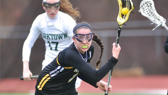 Kristen Kelly of Lakeland-Panas looks for an open teammate