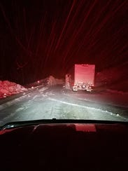 Crews worked through the night to clear snow from Montana