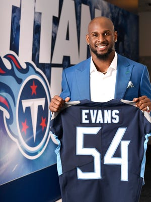 Rashaan Evans, the Titans' 2018 draft pick, poses for a portrait at St. Thomas Sportspark Friday, April 27, 2018.