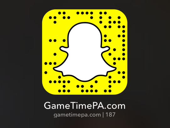 Make sure to follow us on Snapchat at gametimepa.com,