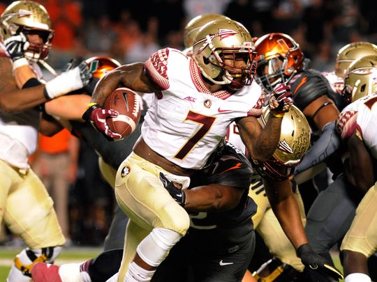 Florida State running back Mario Pender (7) is part of a deepening Seminoles backfield.