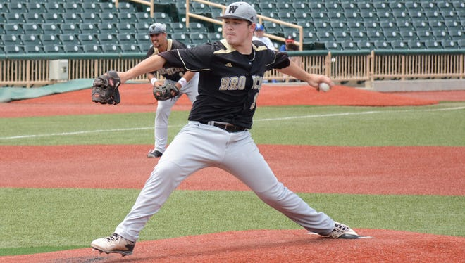 Keegan Akin (7-3) pitched six scoreless inning for Western Michigan in the MAC tournament title game Sunday, allowing one hit and a walk.