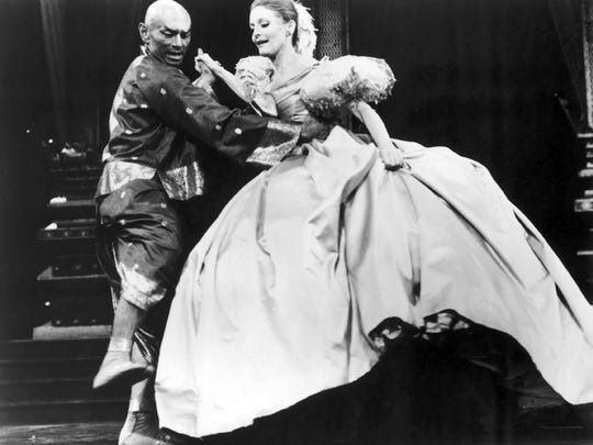 Yul Brynner and Constance Towers in the 1977 revival of 'The King and I'