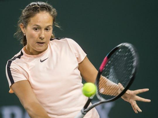 Daria Kasatkina of Russia plays against Venus Williams