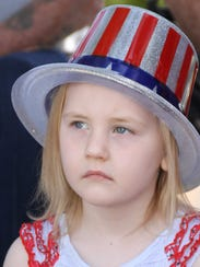 Rebecca Sweetser, 5, put on her patriotic best for