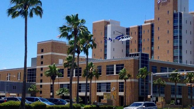 HALO-Flight lands at Christus Spohn Hospital Shoreline in 2015.