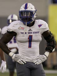 Tennessee State defensive end Ebo Ogundeko could miss