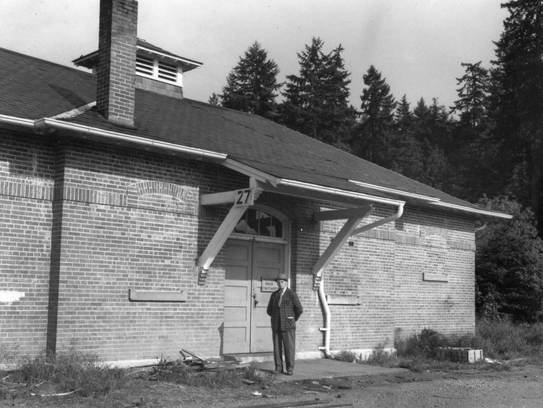 This 1960 photo shows the old bakery building in an