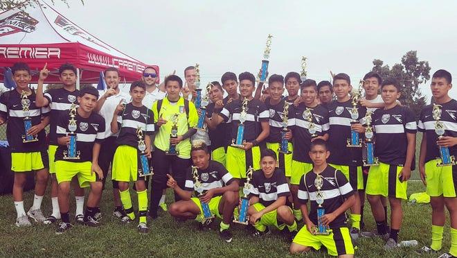 The Cesar Chavez Futbol Academy Crew, winners of the 2015 US Club Soccerpalooza Premier Tournament in Union City.