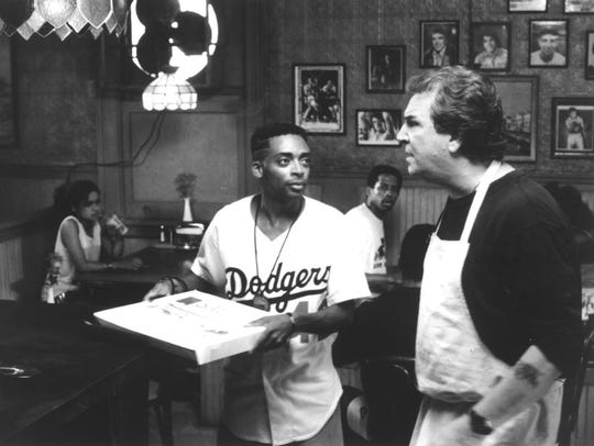 "Spike Lee (left) and Danny Aiello star in ""Do the Right"