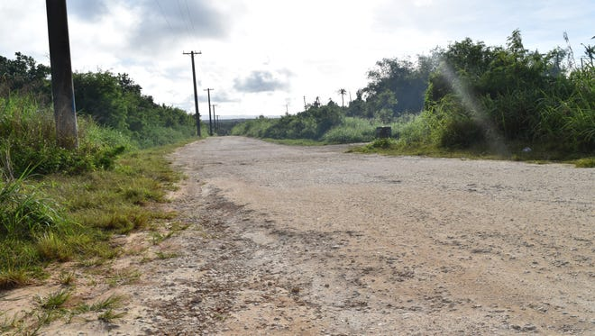A portion of Lucas Sablan Boulevard, in the Gill Breeze Subdivision in Yigo, is shown on Feb. 9, 2017.
