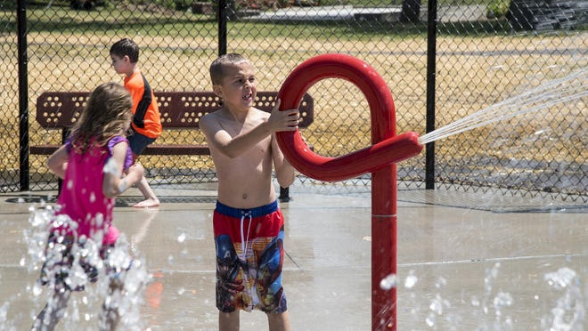 FILE - Due to maintenance issues, the Rotary Park Splash Pad will have a delayed opening. Wading pools will open as soon as all maintenance is completed and pools are filled with water.
