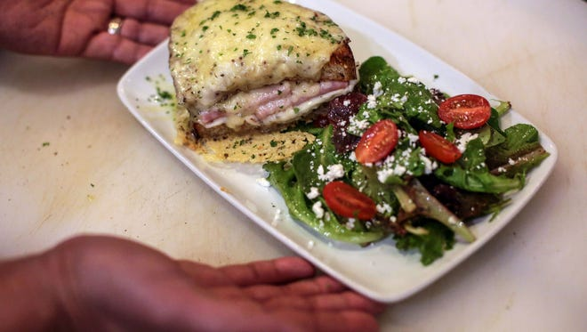 The croque monsieur prepared by the chefs at Joey Palm Springs on Thursday, December 15, 2016.