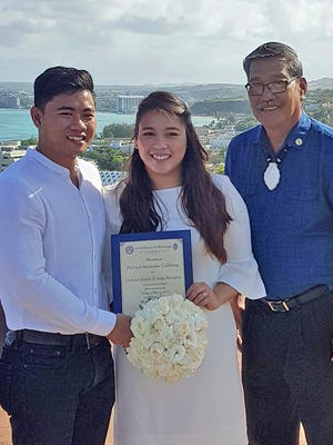Patrick Calilung and Virlene Peralta were wed Feb. 3 at Fort Apugan overlook in Agana Heights by Sen. Joe S. San Agustin.