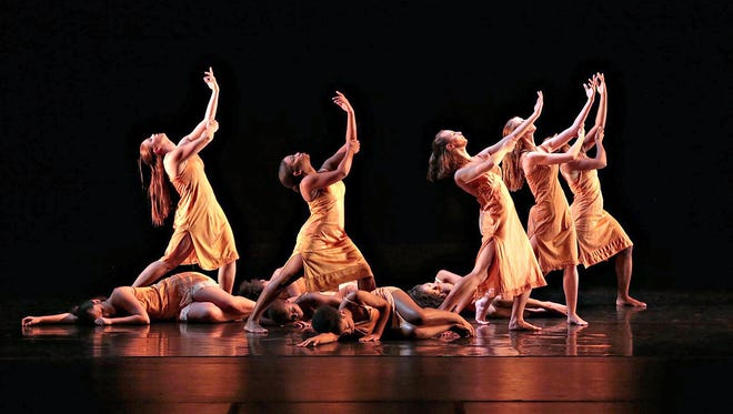 """The MTSU Dance Theatre performs """"Collage"""" at Tucker Theatre. The university will launch a bachelor's degree in dance in fall 2017."""